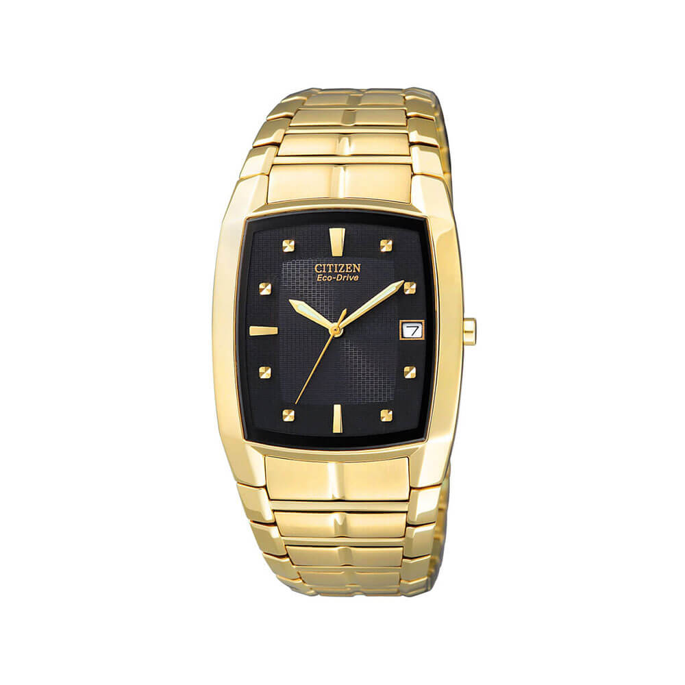 Citizen Eco-Drive BM6552-52E Gold Tone Mens Watch