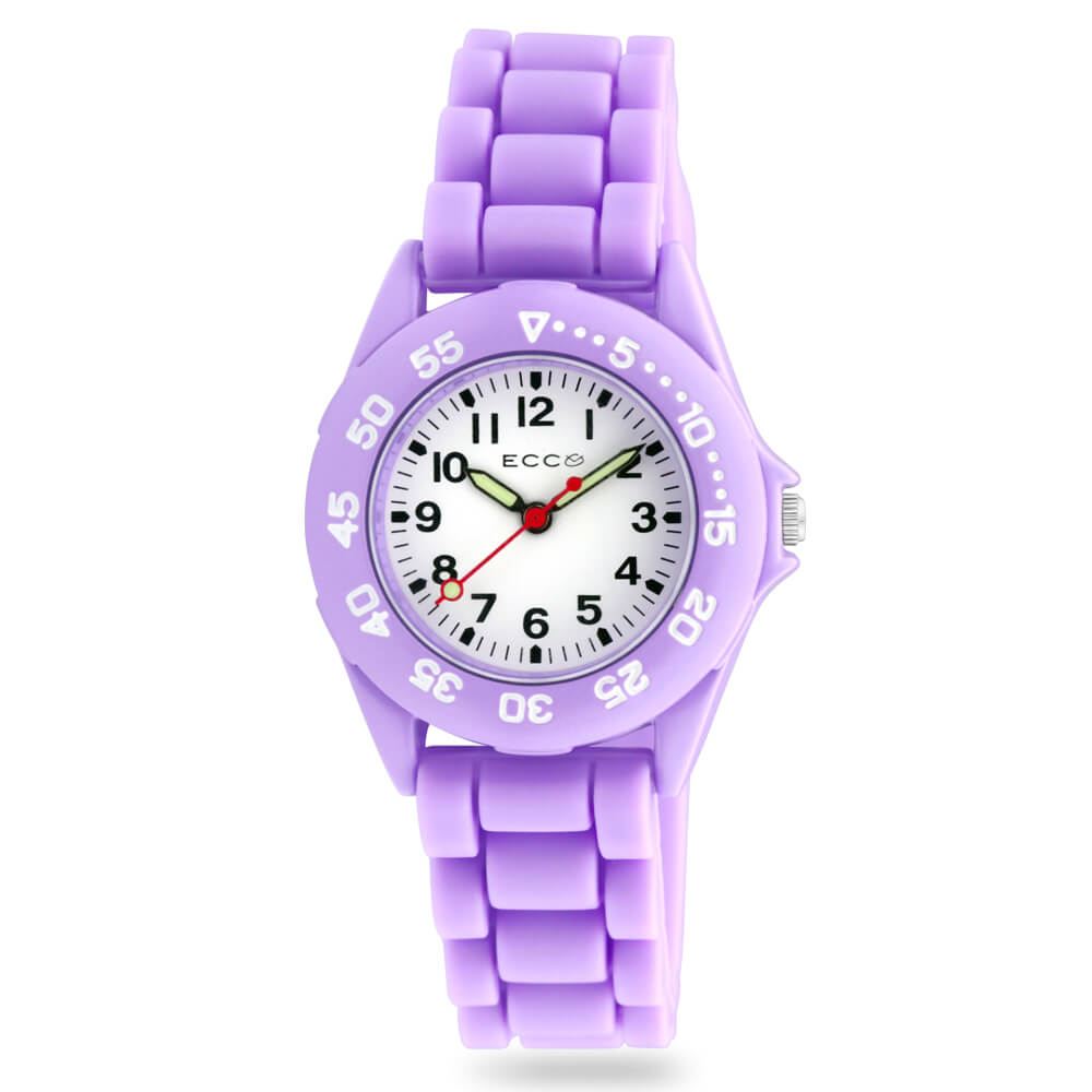 ECC Kids Purple Silicone Strap Watch