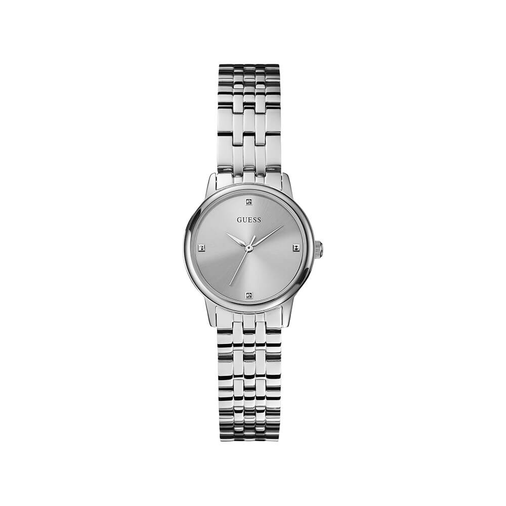 Guess W0687L1 Wafer Silver Tone Womens Watch