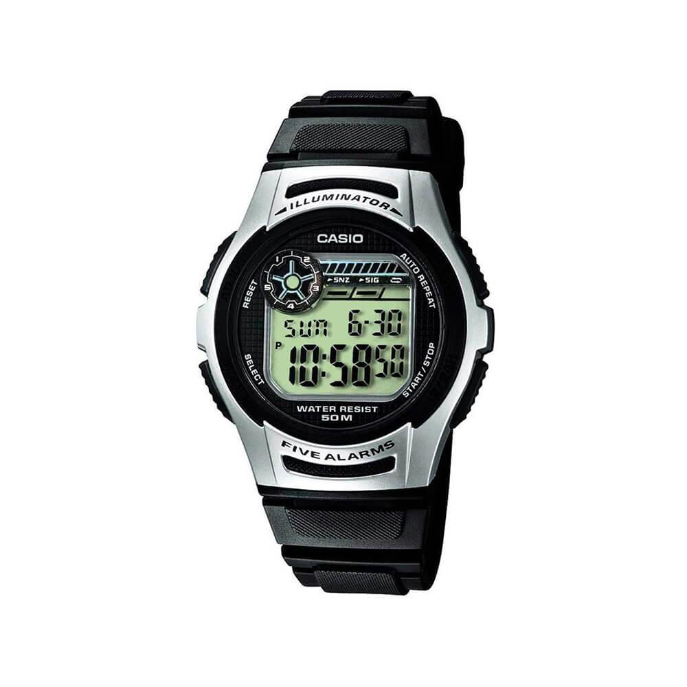 Casio W213-1 Five Alarms Mens Watch
