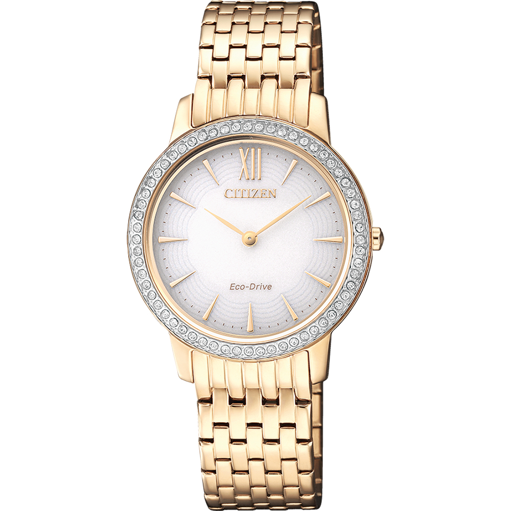 Citizen Eco-Drive EX1483-84A Stone Set Womens Watch