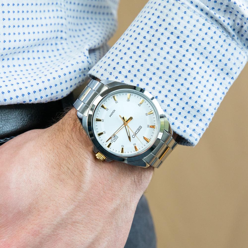 Seiko SUR211P Two Tone Mens Watch