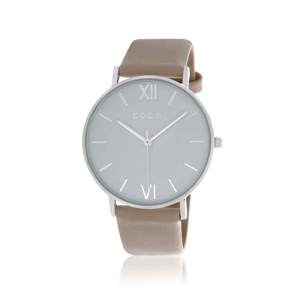 Ellis & Co Collection Silver Tone Nude Strap 36mm Womens Watch