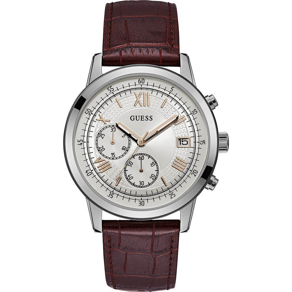 Guess Summit W1000G2 Brown Leather Mens Watch