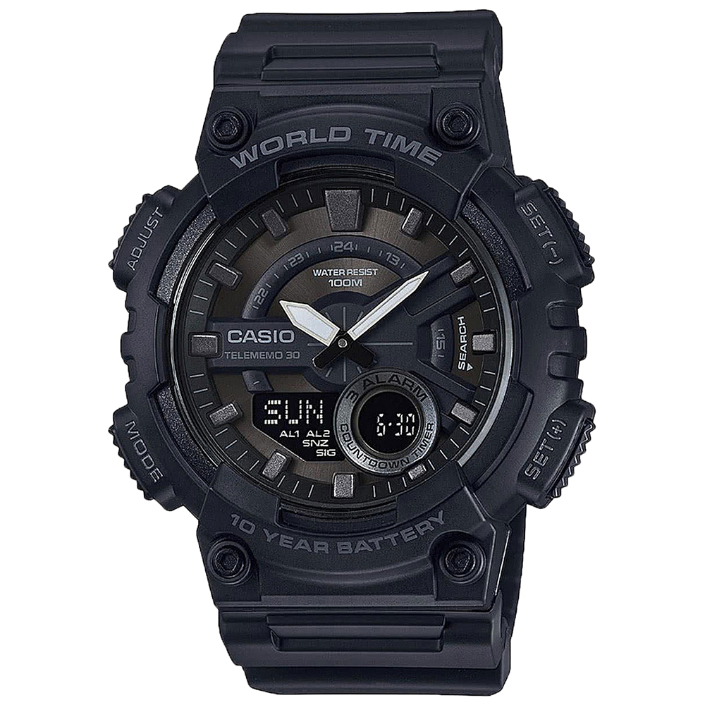 Casio AEQ110W1BV World Time Mens Watch