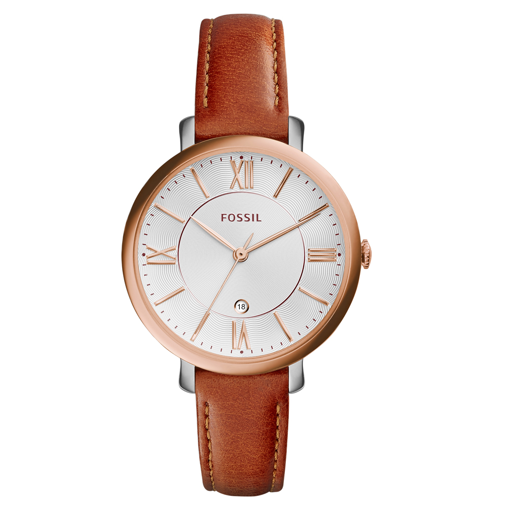 Fossil 'Jacqueline' ES3842 Tan Leather Ladies Watch