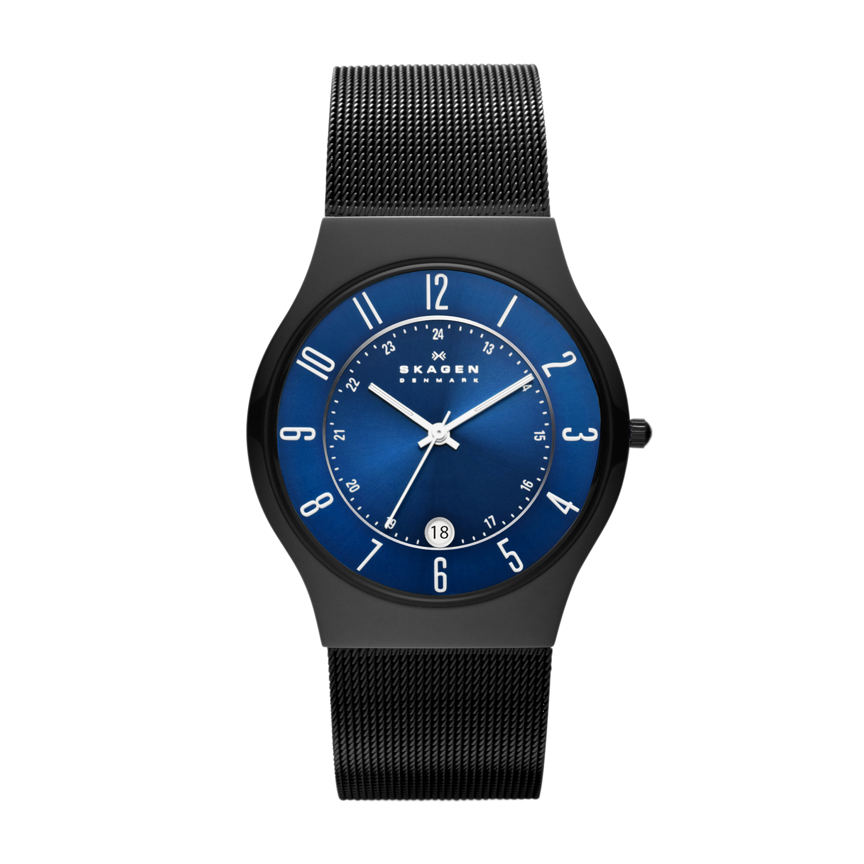 Skagen T233XLTMN 'Grenen' Black Titanium Mens Watch