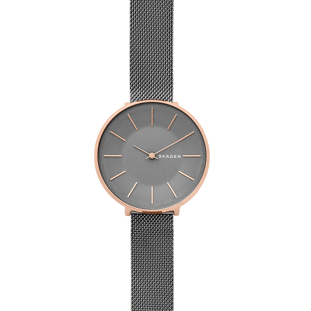 Skagen Karolina SKW2689 Grey Stainless Steel Mesh Womens Watch