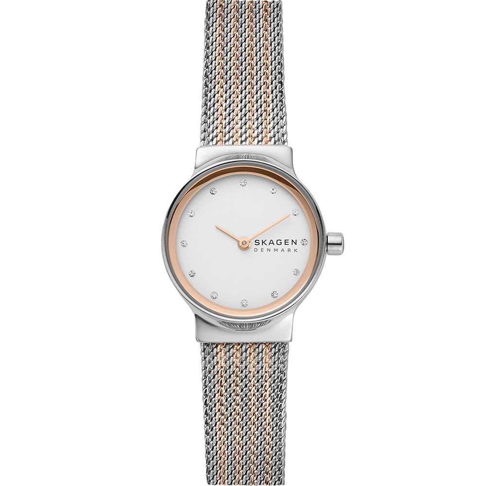 Skagen SKW2699 Freja Ladies Stainless Steel Rose Gold Two Tone Watch