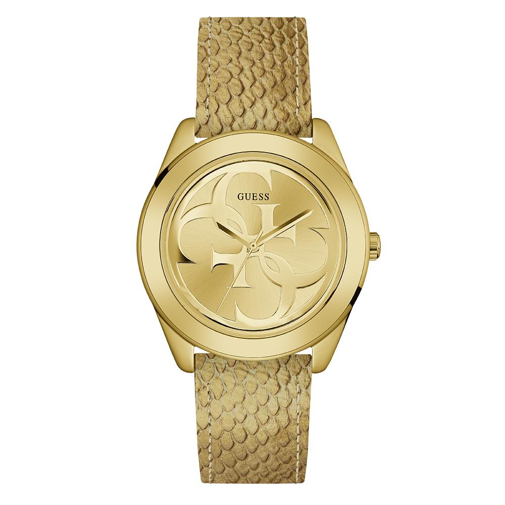 Guess W0895L6 Ladies Gold Logo Watch