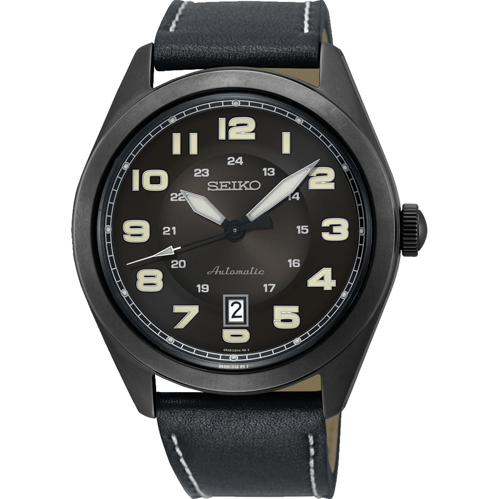 Seiko Neo Sport SRPC889J Black Leather Mens Watch
