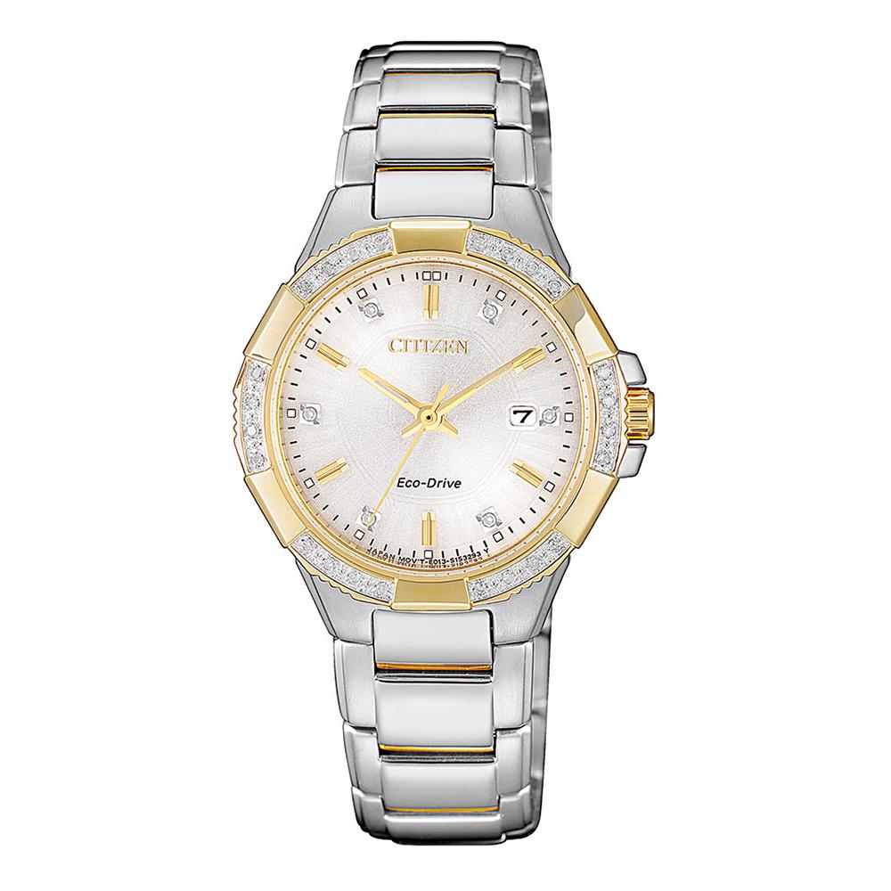 Citizen Eco Drive EW2464-55A Diamond Set Womens Watch