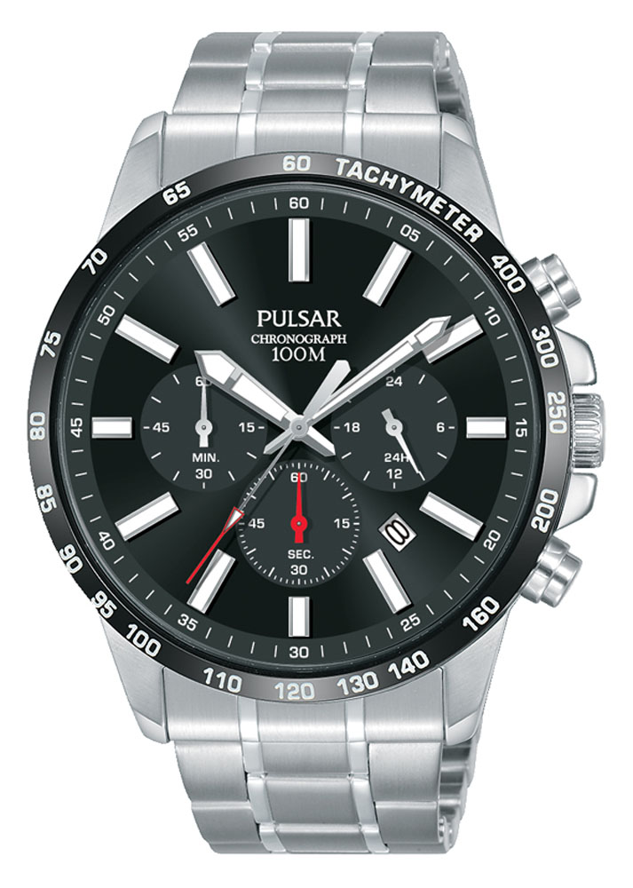 Pulsar PT3997X1 Silver Stainless Steel Mens Watch