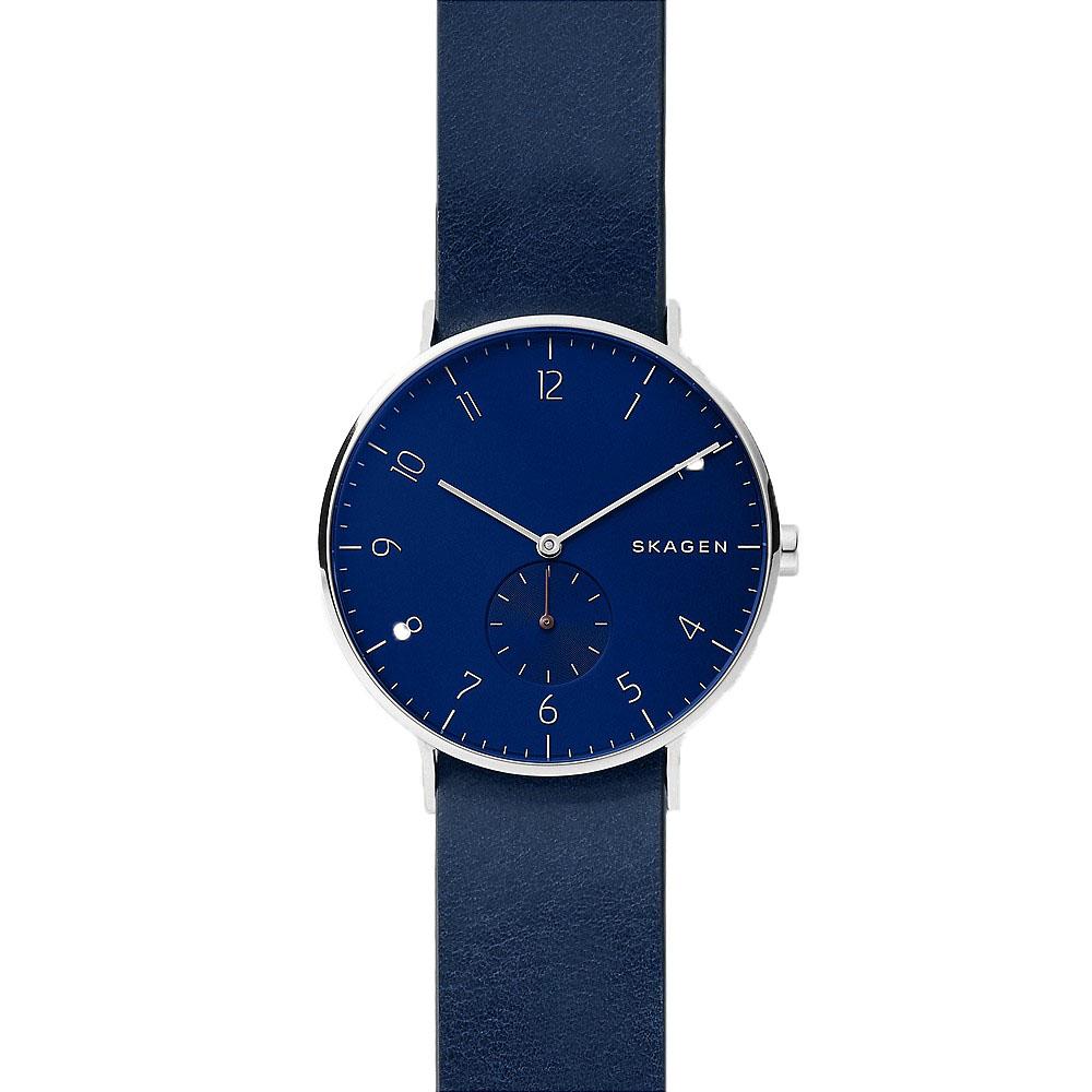Skagen Aaren SKW6478 Blue/Burgundy Reversible Leather Mens Watch