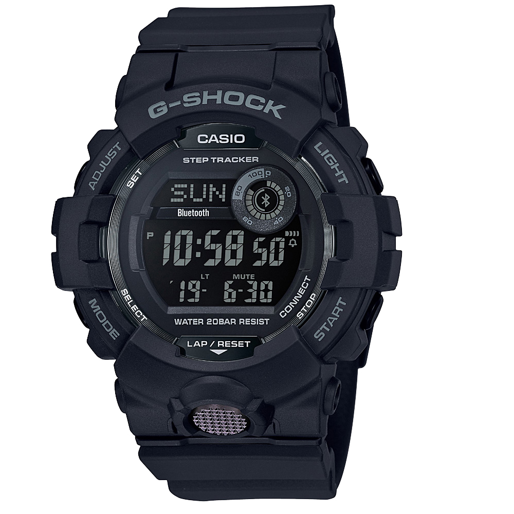G-Shock G-Squad GBD800-1BDR Black Resin Mens Watch