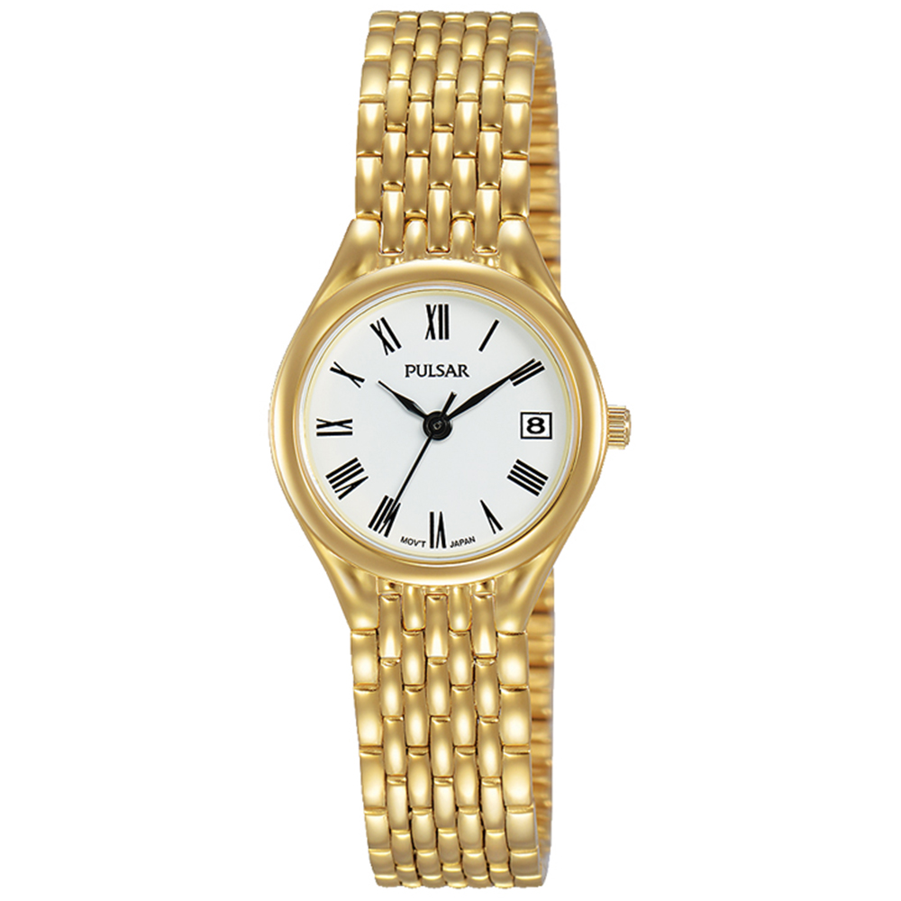 Pulsar PXT948X Gold Plated Stainless Steel Womers Watch