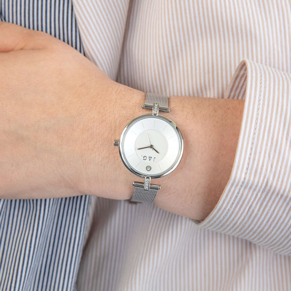Jag J2230A Silver Stainless Steel Mesh Womens Watch