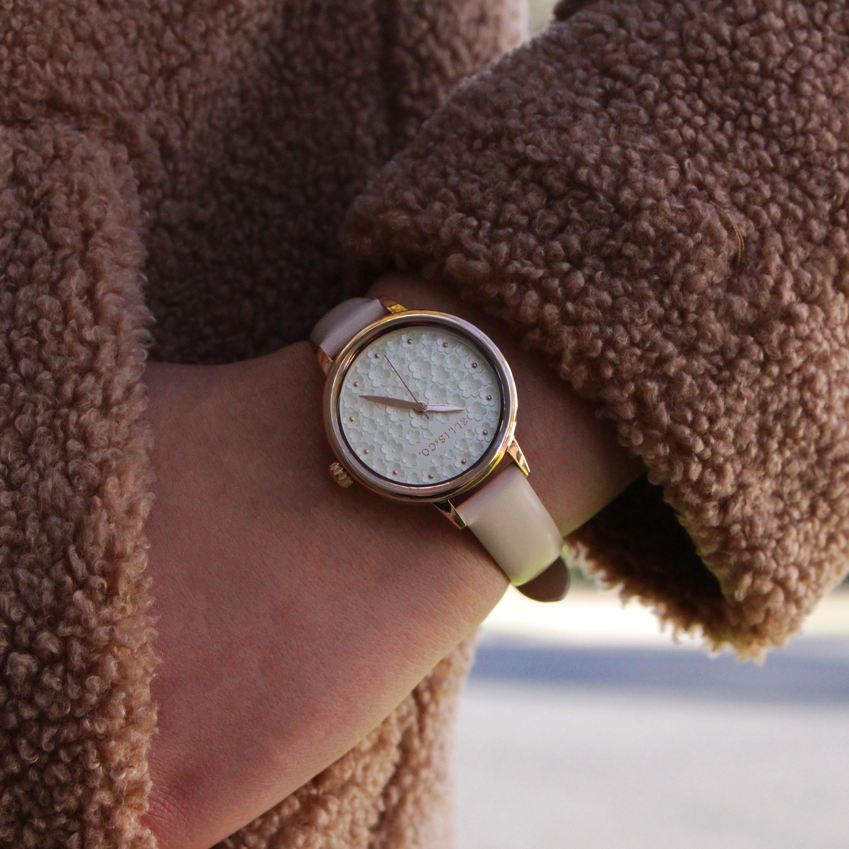 Ellis & Co Daisy Nude Leather Womens Watch