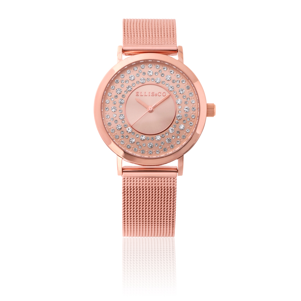 Ellis & Co Kendall Rose-Gold Stainless Steel Womens Watch