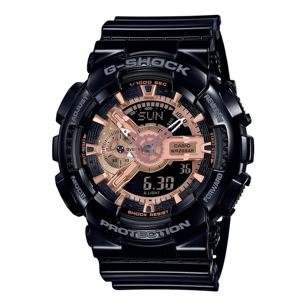 G-Shock GA110MMC-1A Black and Rose Resin Mens Watch