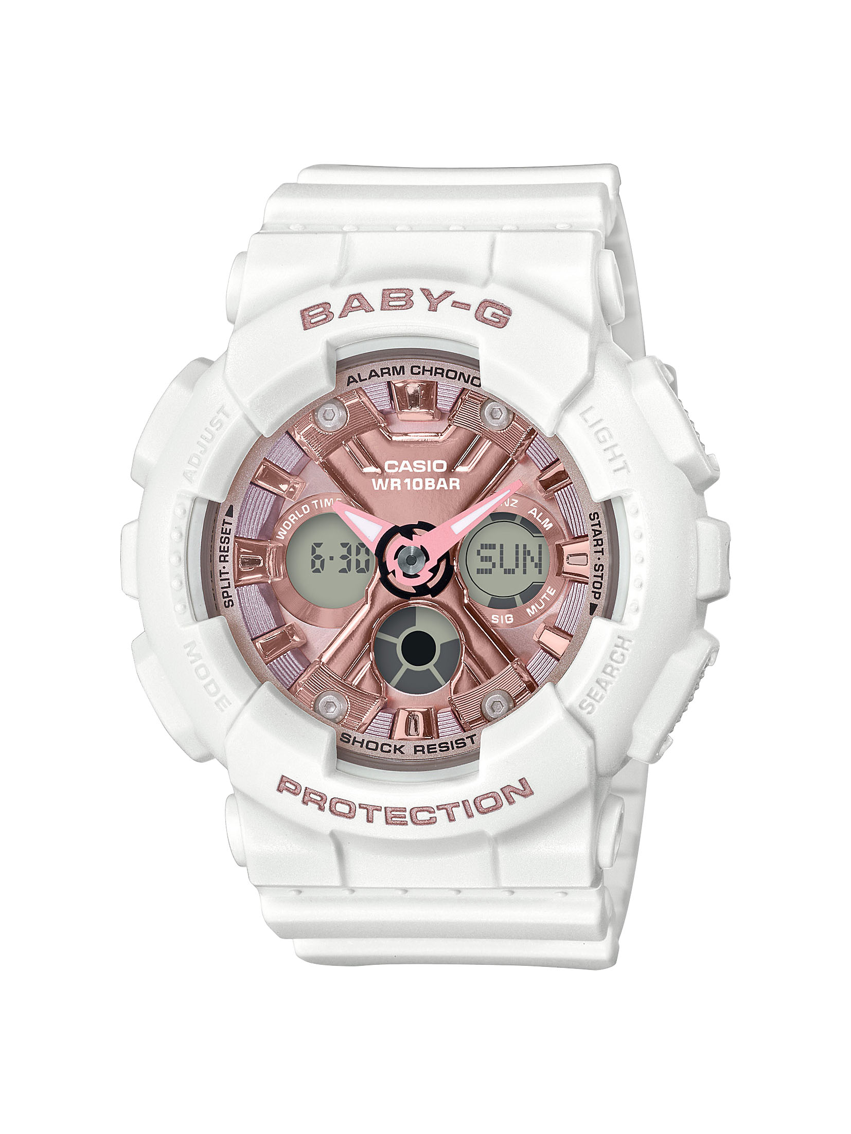 Casio Baby-G BA-130-7A1DR White Resin Womens Watch