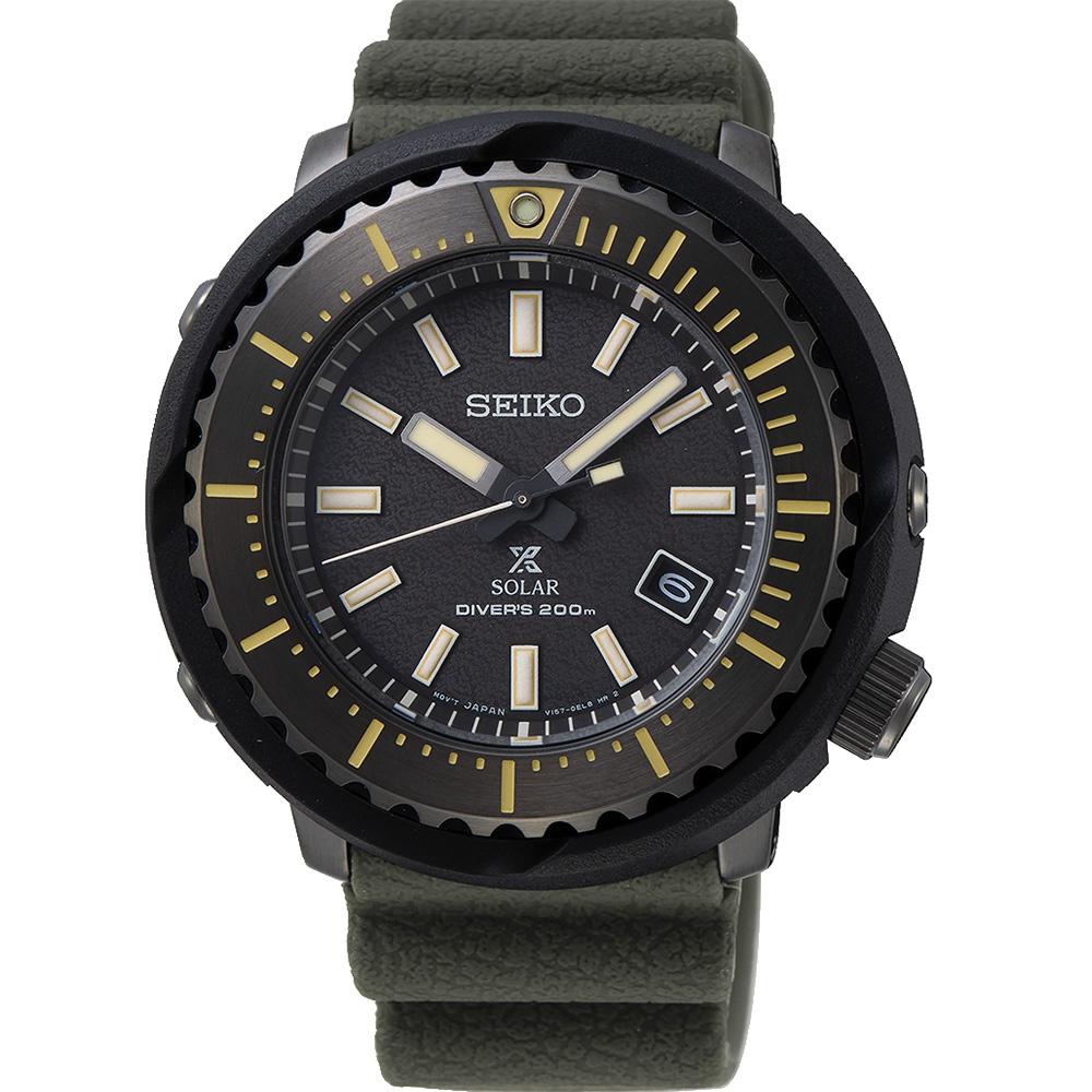 Seiko Prospex SNE543P Green Silicone Mens Watch