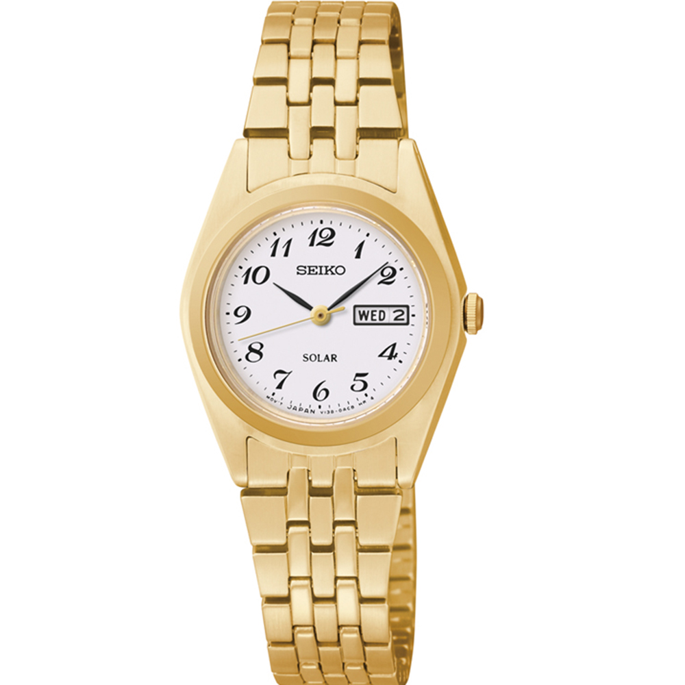 Seiko SUT118P-9 Gold Stainless Steel Womens Watch