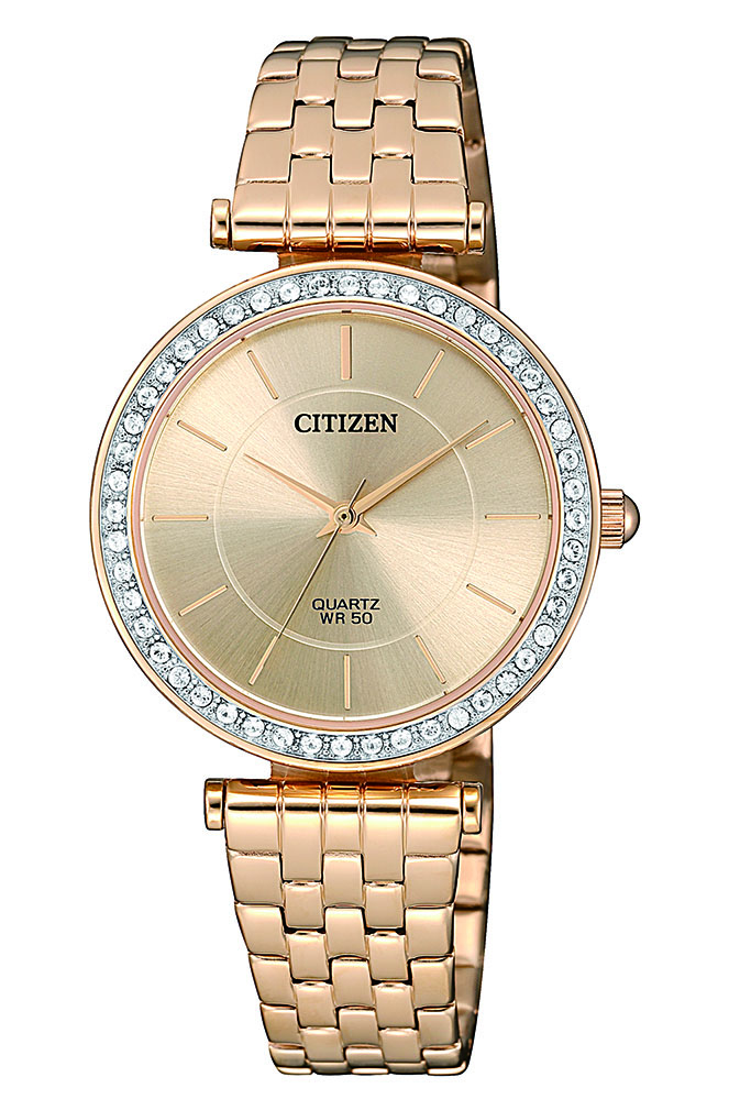 Citizen ER0213-57X Swarovski Gold Stainless Steel Womens Watch