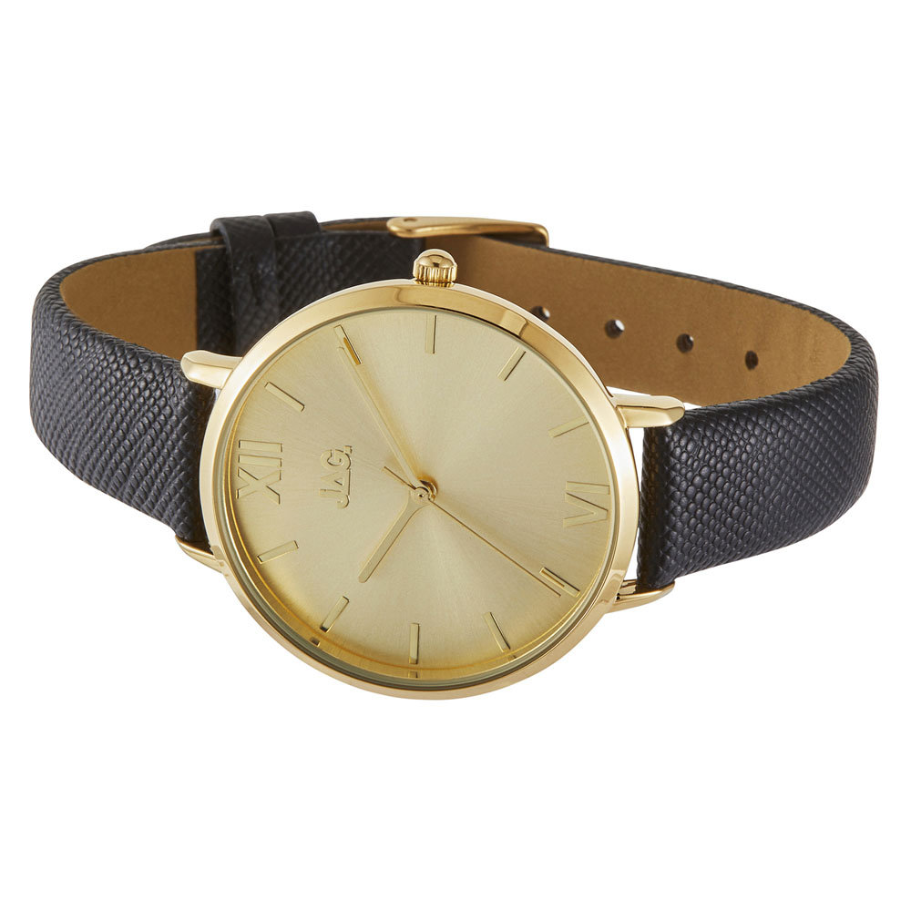 Jag Sophie J2261 Black Leather Womens Watch