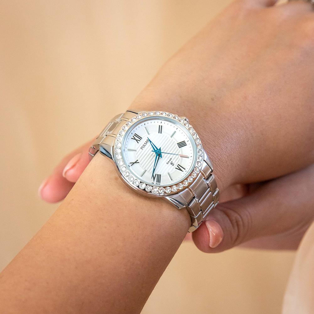 Pulsar PH7519X Swarovski Crystals Stainless Steel Womens Watch