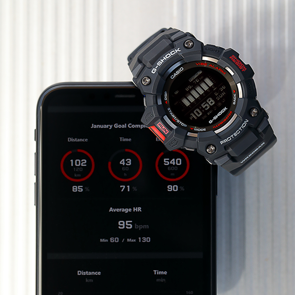 Casio G-Shock GBD100-1D Smartphone Link Bluetooth Step Tracker