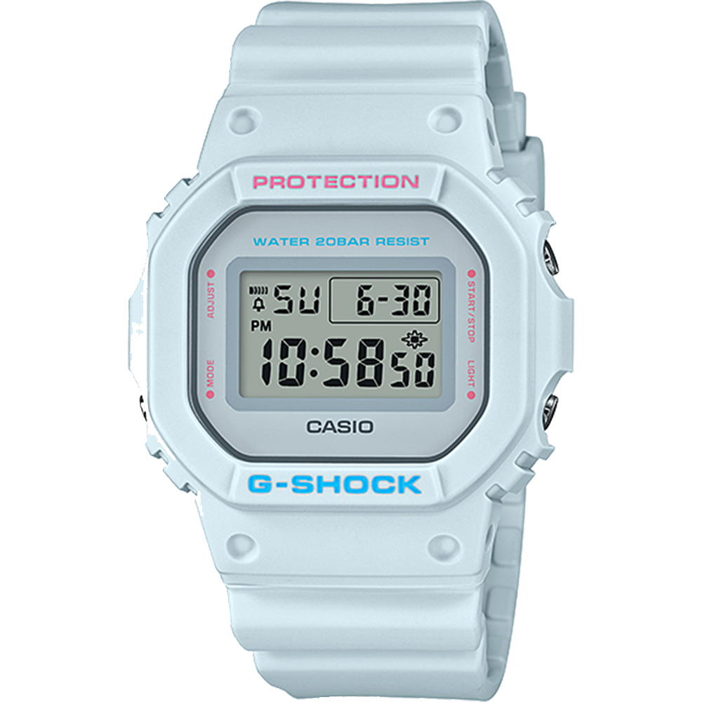 Casio G-Shock DW5600SC-8D White Digital Watch