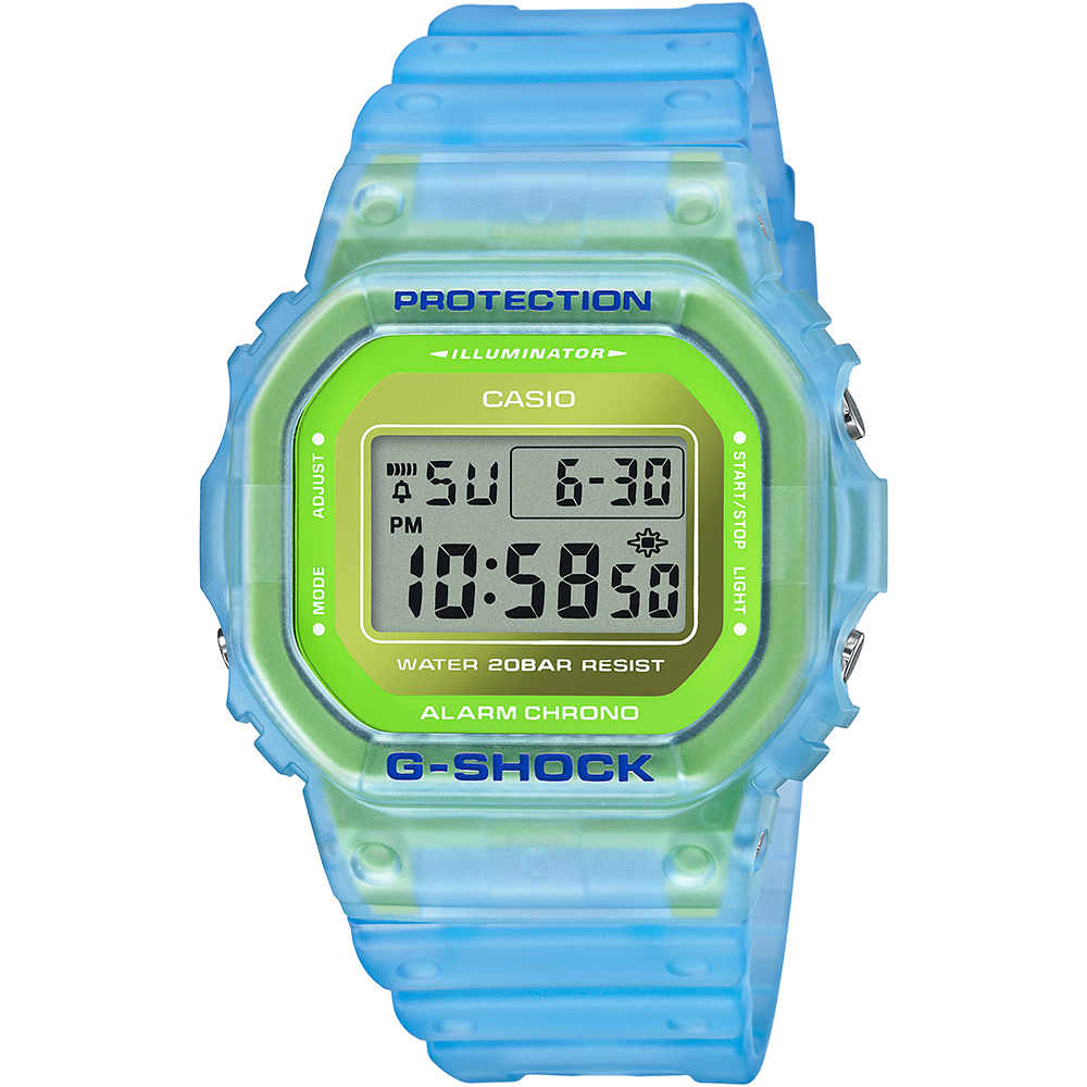 Casio G-Shock DW5600LS-2D Semi - Transparent Blue Green Watch