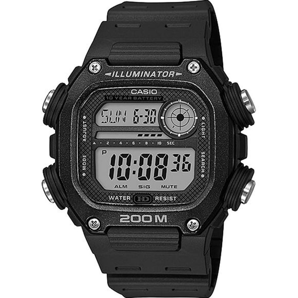 Casio DW291H9A Digital Black Resin Watch