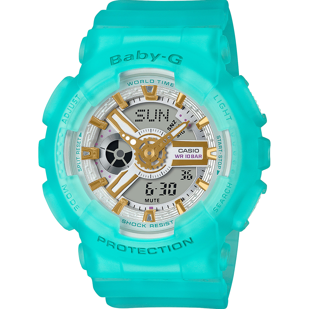 Baby-G BA110SC-2A Jelly Green Womens Watch