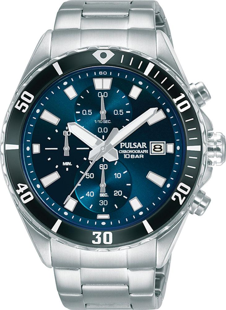 Pulsar Chronograph PM3187X Mens Silver Watch