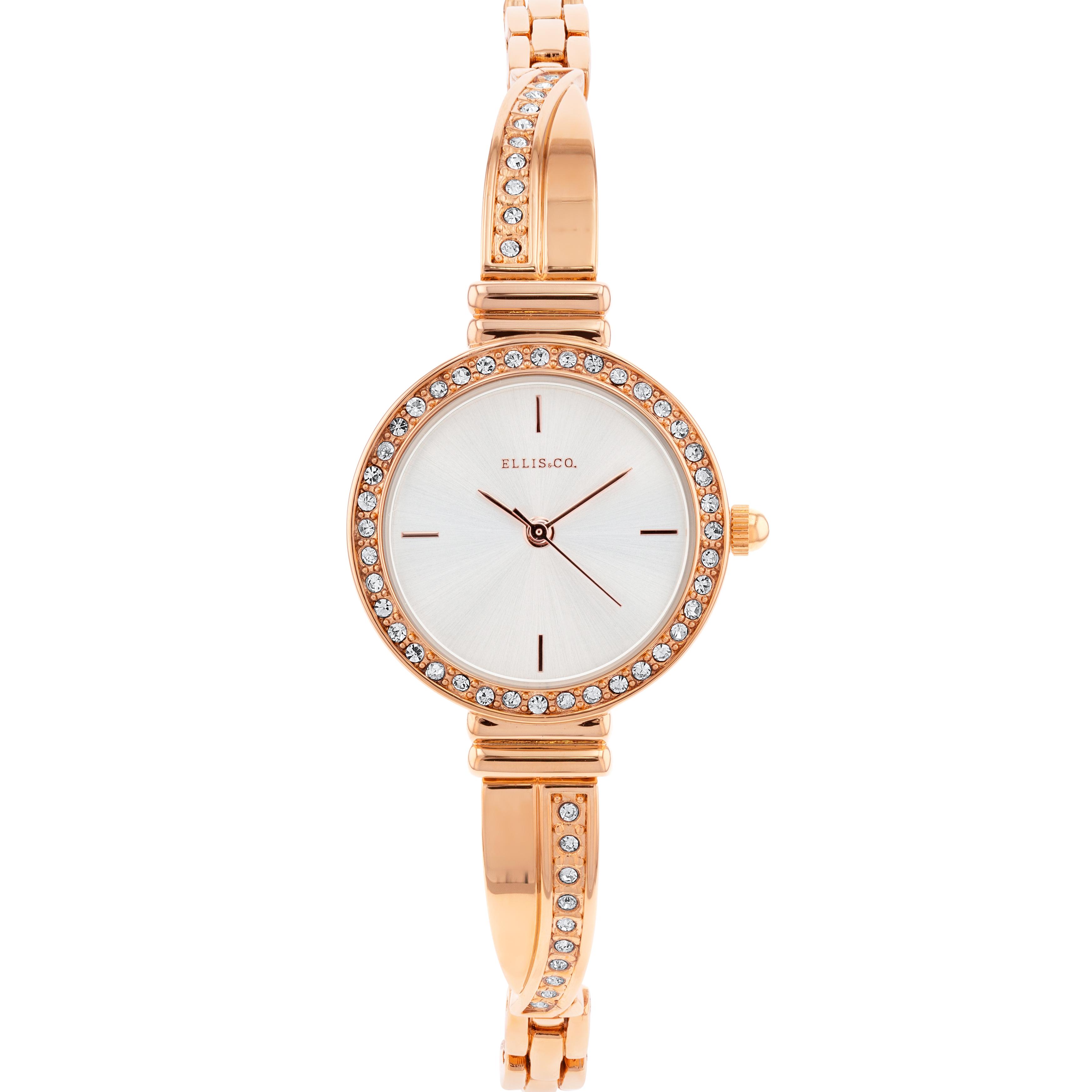 Ellis & Co ' Erika' Rose Gold Plated Women's Watch