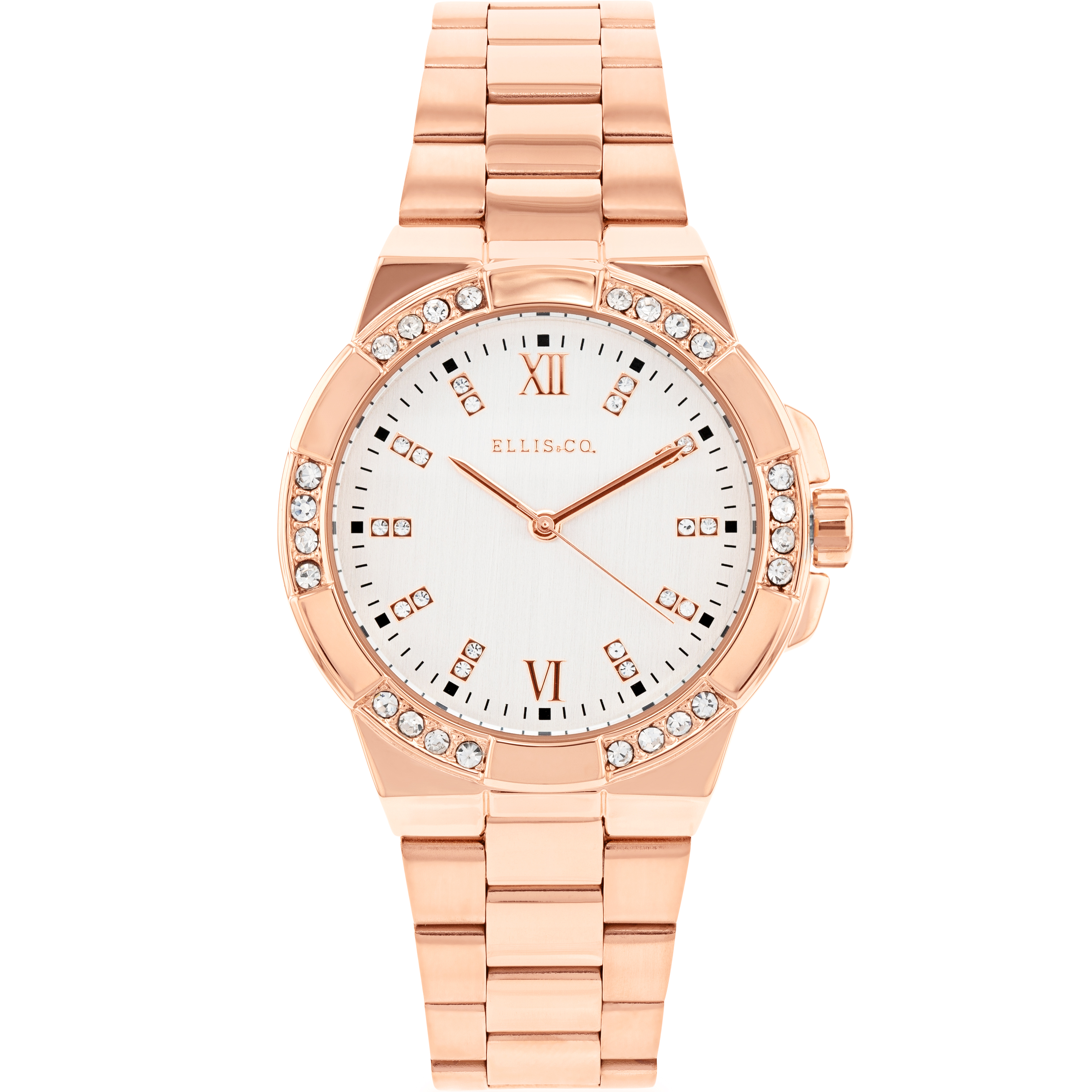 Ellis & Co 'Alysa' Rose Gold Plated Women's Watch