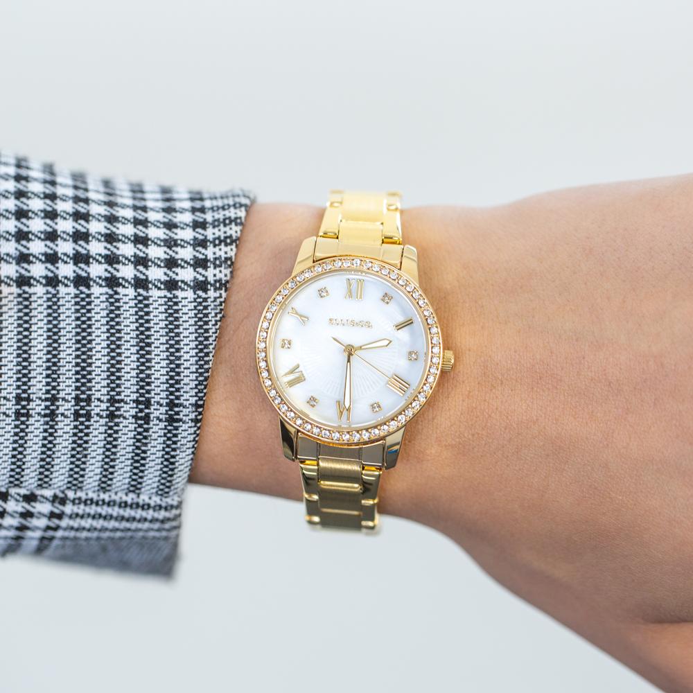 Ellis & Co 'Alena' Gold Tone Womens Watch