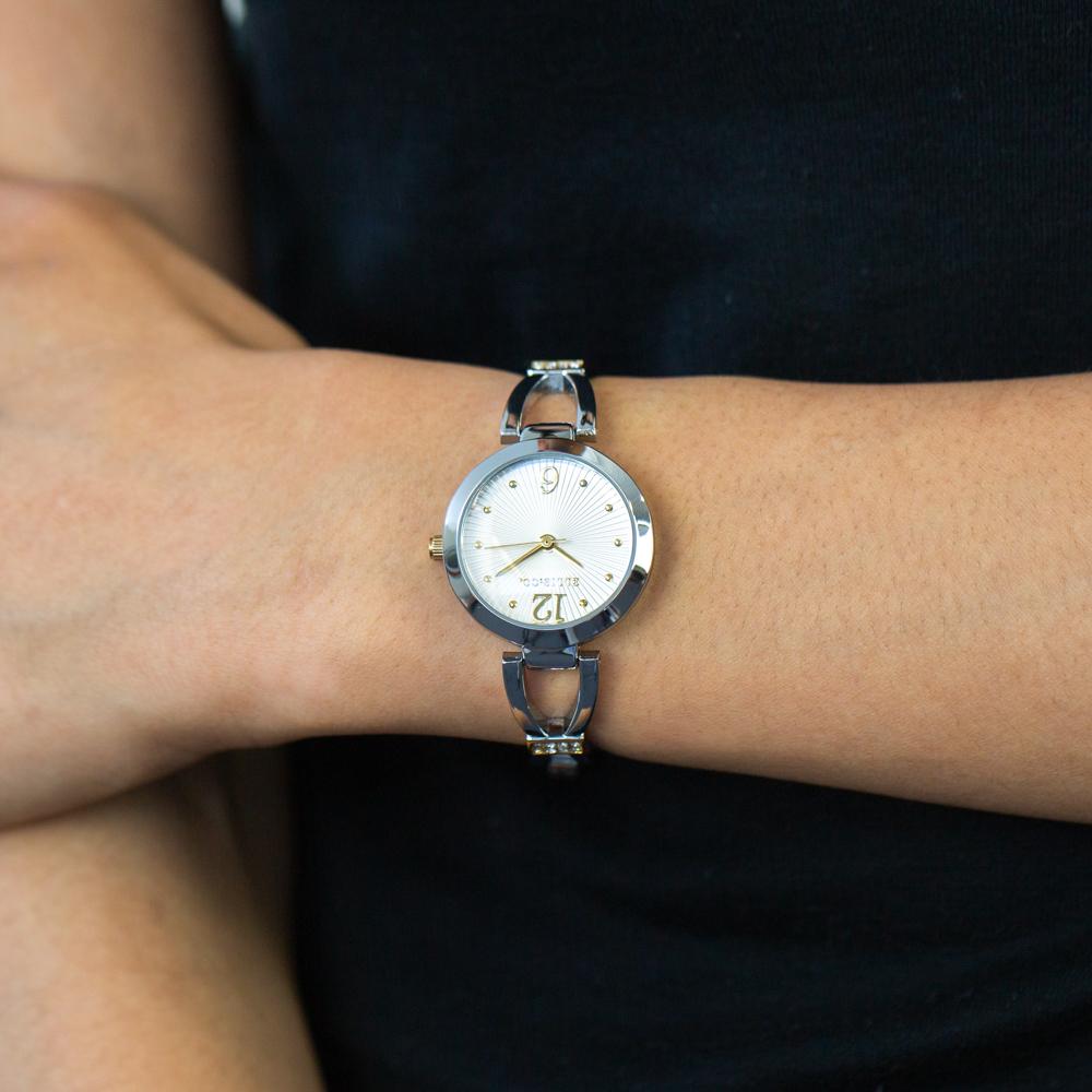 Ellis & Co 'Luna' Silver Tone Womens Watch