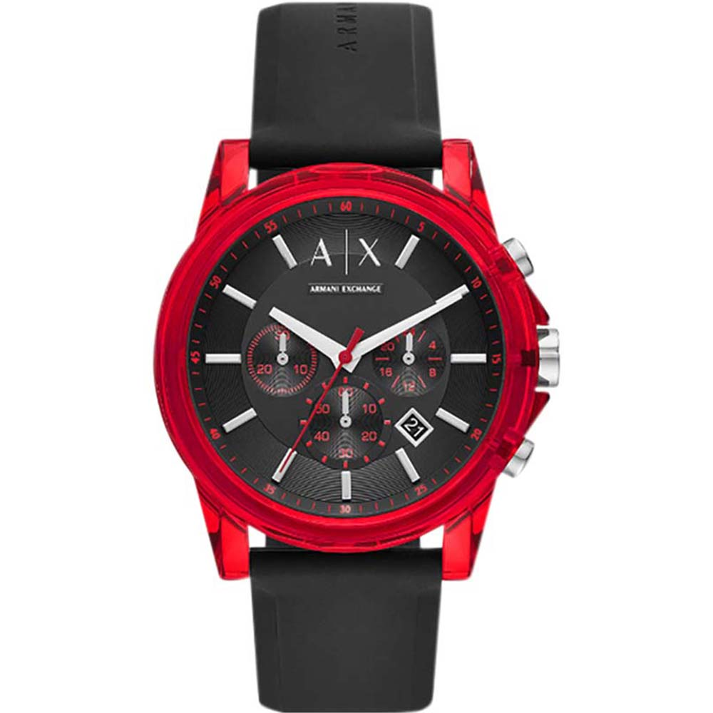 AX1338 AX Outer Banks Silicone Red Watch
