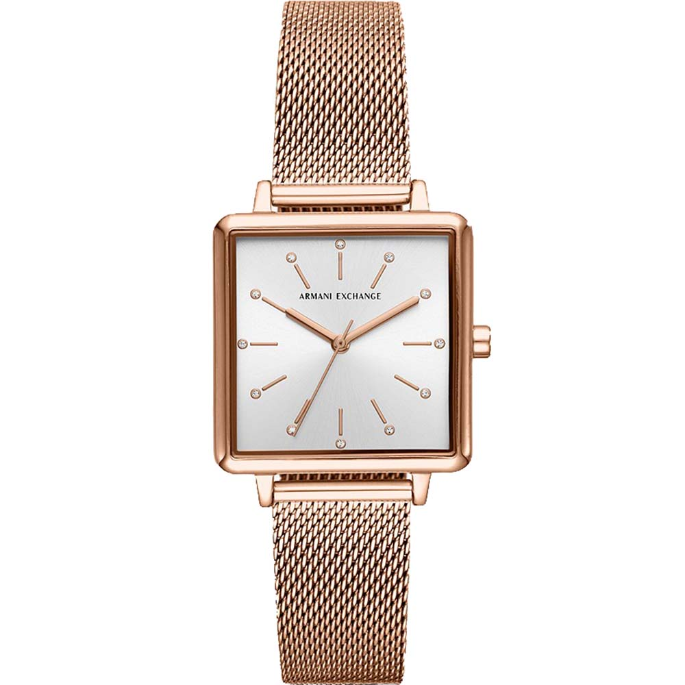 AX5802 Armani Exchange Square Lola Rose Gold Tone Watch
