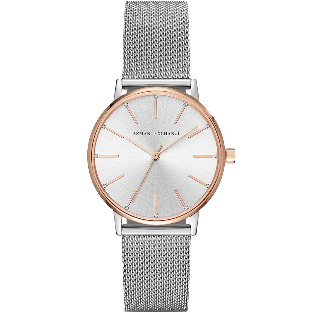 AX5537 Armani Exchange Lola Rose Gold Tone Dress Watch
