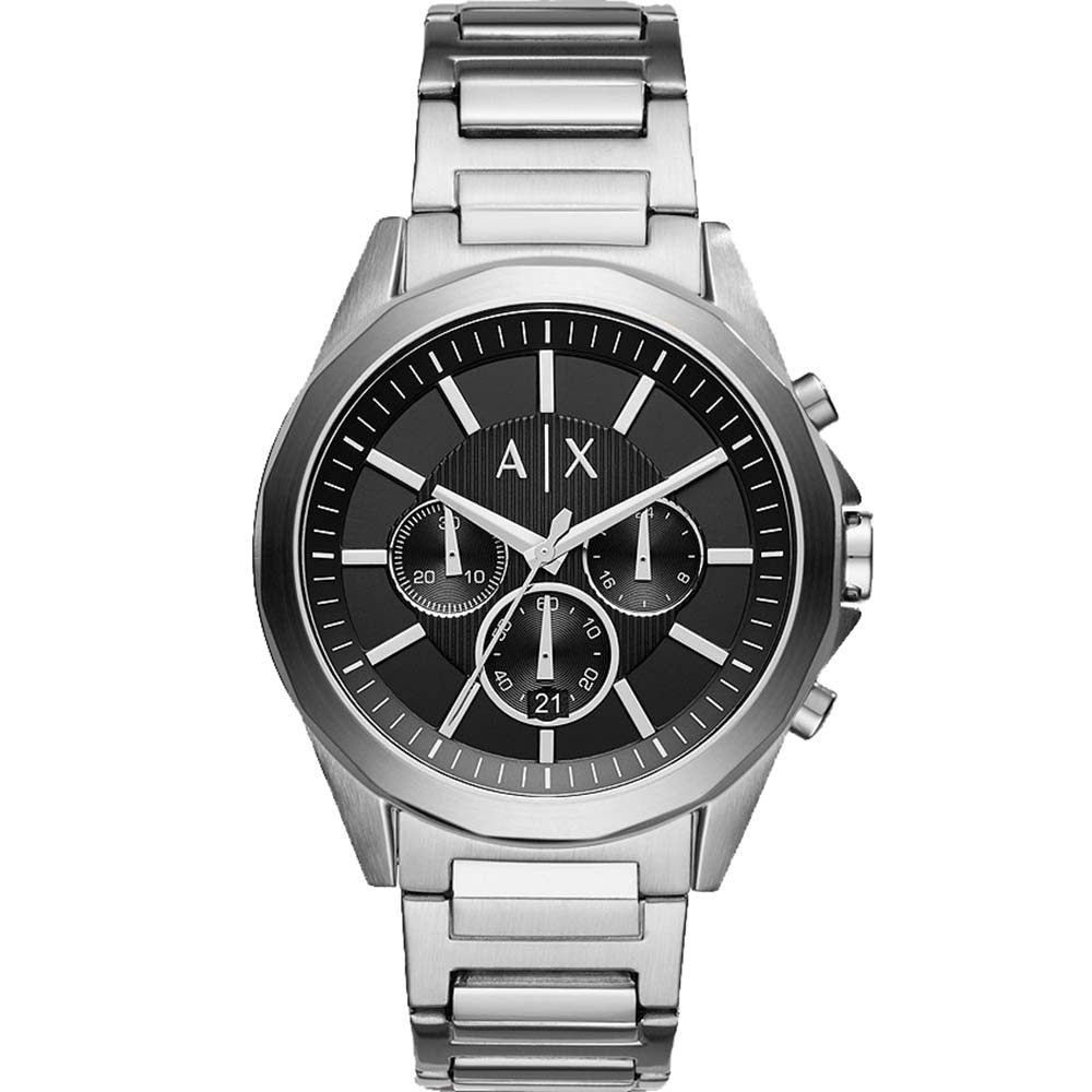 AX2600 Armani Exchange Drexler Silver Chronograph Watch