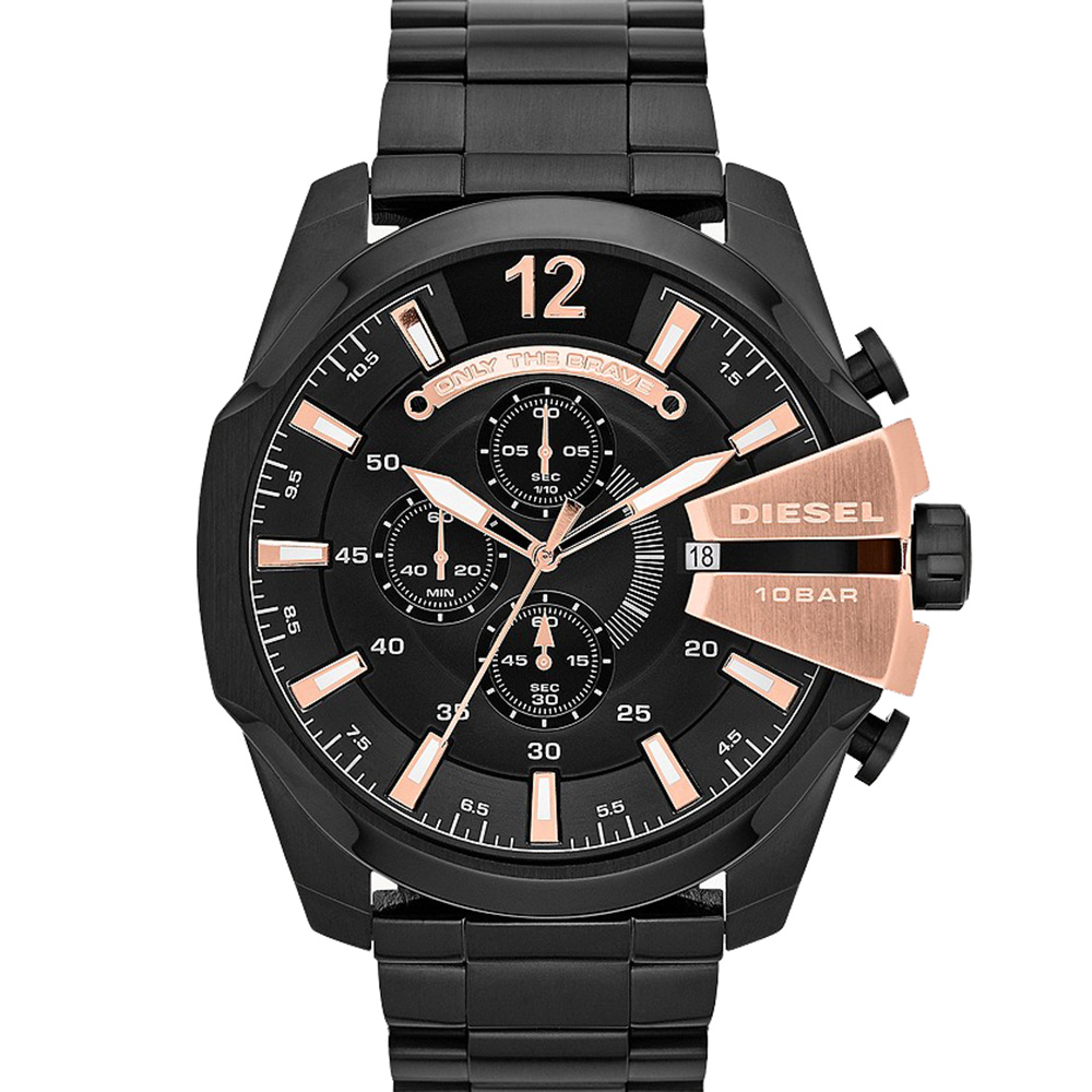 Diesel Mega Chief DZ4309 Chronograph Mens Black Watch
