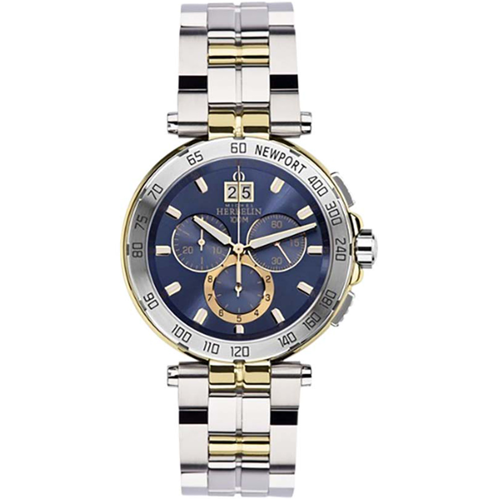 Michel Herbelin Newport 36696/BT35 Chronograph Mens Two Tone Watch