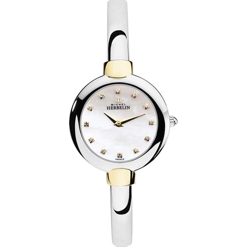 Michel Herbelin Salambo 17413/BT59 Womens Silver Dress Bangle Watch