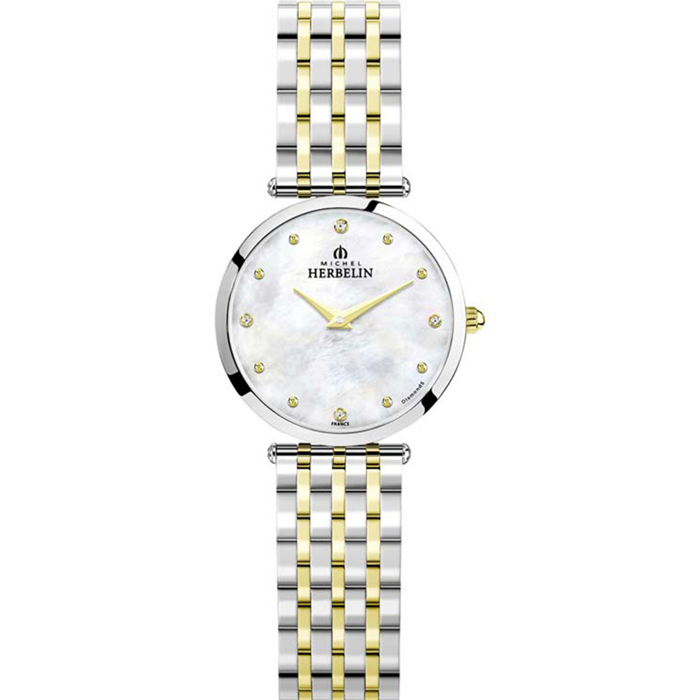 Michel Herbelin Epsilon 17116/BT89 Silver and Gold Two Tone Womans Watch