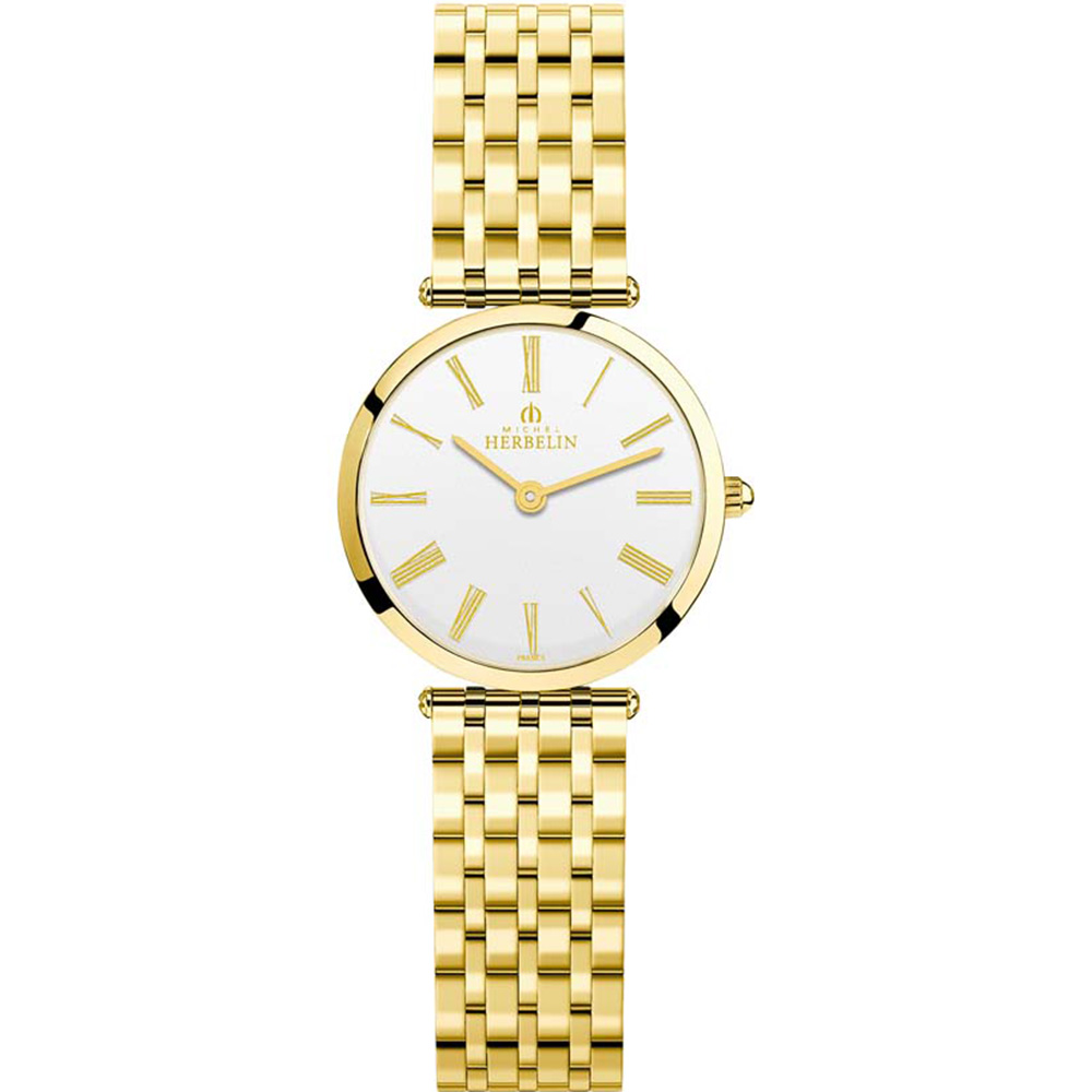 Michel Herbelin Epsilon 17116/BP01N Gold Tone Womans Watch