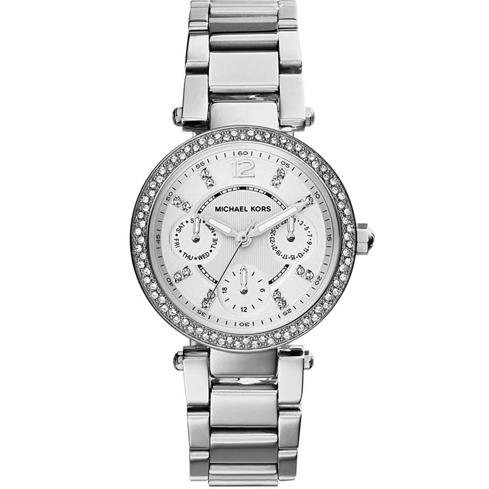 Michael Kors Mini Parker MK5615 Multifunction Silver Womans Watch